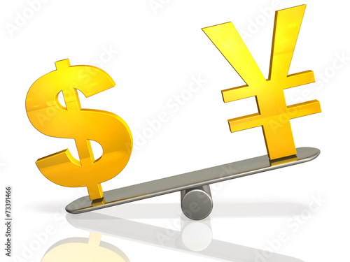 Fotografie, Obraz  3DCG abstract illustration that represents the exchange rate