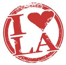 I Love LA Heart Symbol Los Ang...