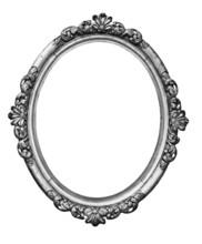 Vintage Silver Oval Frame