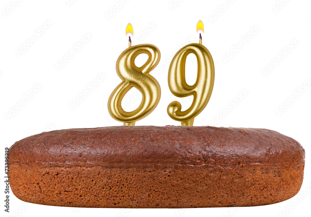 Birthday Cake Candles Number 89 Isolated Foto Poster Wandbilder Bei EuroPosters