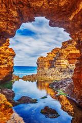 morski krajolik, krajolik i obzor velikog oceanskog puta, australija