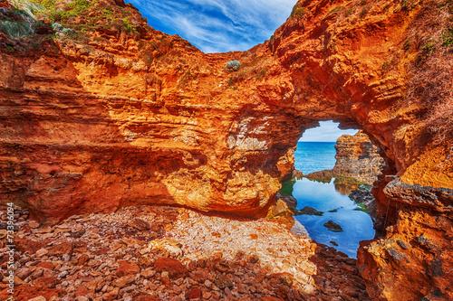 Poster Australie seascape,landscape and skyline ofthe great ocean road,australia