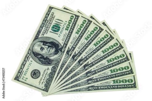 Fotografía  1000 dollar bills stack