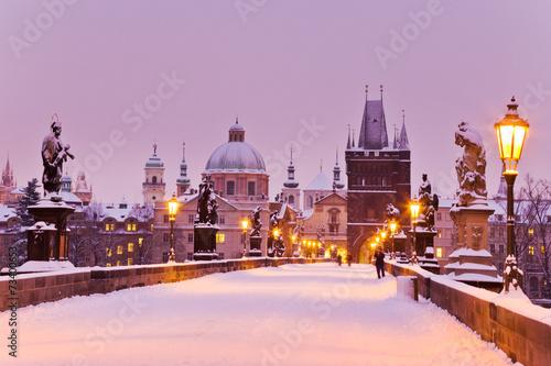 Staande foto Praag Charles bridge, Old Town bridge tower, Prague (UNESCO), Czech r