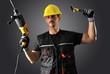 worker with yellow helmet