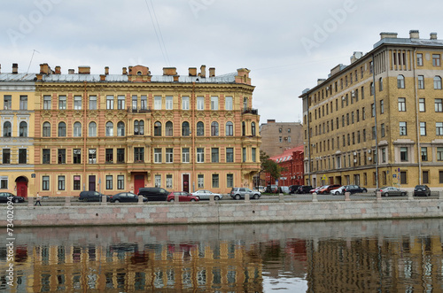 Fotografía  Санкт-Петербург, набережная Фонтанки, бывший доходный дом