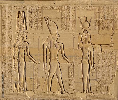 Tuinposter Egypte Gods of Egypt, Philae Temple, Egypt, UNESCO World Heritage Site