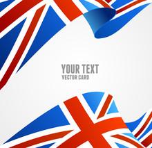 Vector Flag Of UK. Border