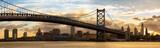 Fototapeta Miasto - Philadelphia skyline panorama at sunset, US
