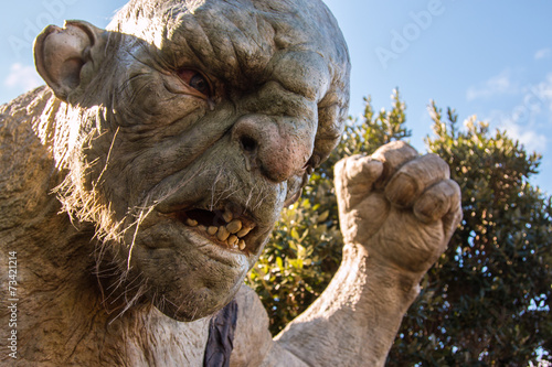 "Fotografie, Tablou  Troll, ""The Cave"" at Weta Workshops, Wellinton, NZ"