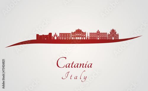 Fotografia Catania Skyline in red