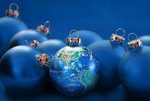 Earth Globe As Christmas Ball ...