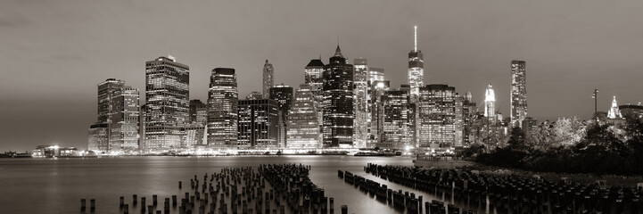 Panel Szklany Nowy York Manhattan at night