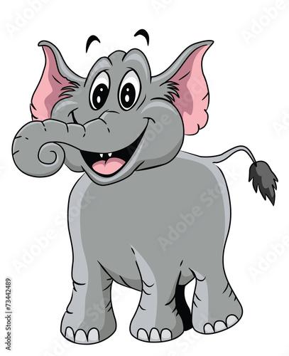 Poster de jardin Zoo Elephant Cartoon Illustration