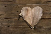 Holz Hintergrund Mit Herz Und ...