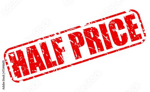 Tela Half price red stamp text