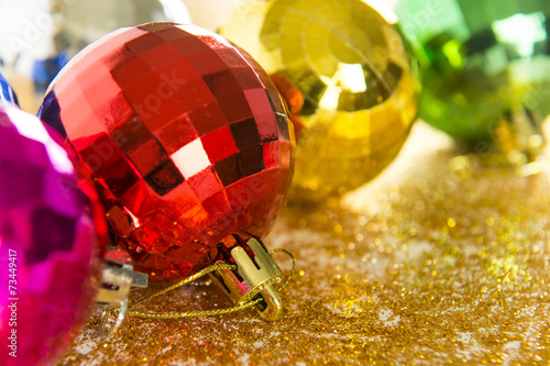 Foto op Aluminium Imagination Christmas decoration on abstract background