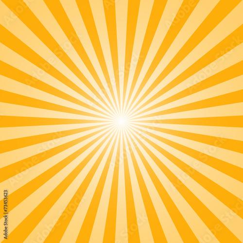 Fototapeta The sun and the sun's rays on yellow background obraz na płótnie