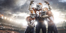American Football Players In A...