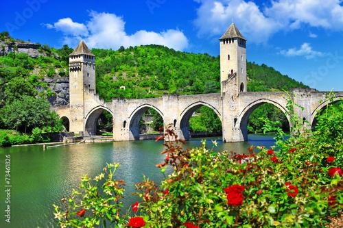 Cahors Valentre bridge,  UNESCO site the Pilgrim's Road to Santi
