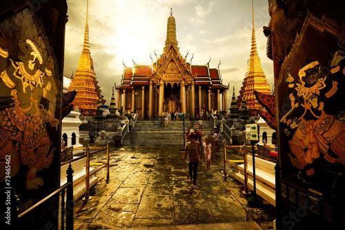 In de dag Bangkok Preah pantheon Wat Phra Kaew in Bangkok