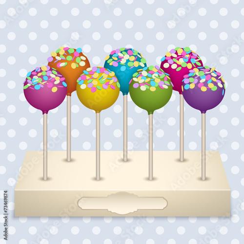 Keuken foto achterwand Snoepjes Cake Pops set