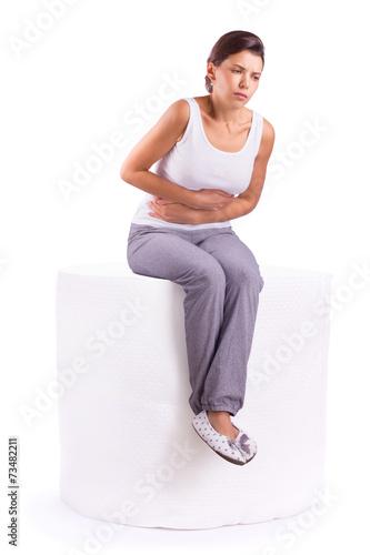 Valokuvatapetti Stomach ache pain