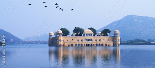 Fotobehang India Palace in Water - Jal Mahal, Rajasthan, India