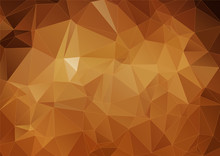 Yellow Brown Polygonal Background