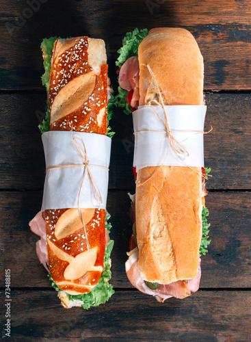 Submarine sandwiches Canvas Print