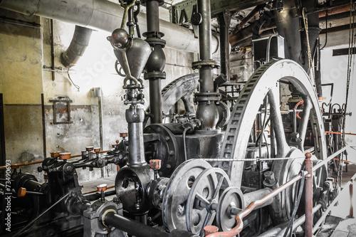 rusty industrial ruine Canvas Print