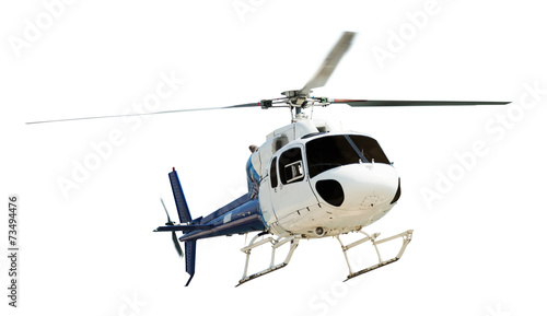 Tuinposter Helicopter Helicopter with working propeller