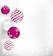 Pink Christmas Spiral Balls Ha...