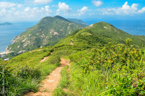 Foto auf Leinwand Hongkong Hong Kong trail beautiful views and nature, Dragon's back