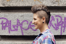 Young Girl With Urban Haircut