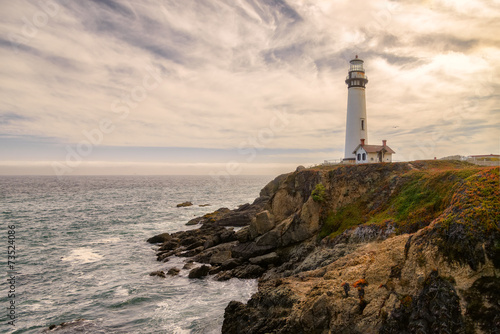 Photo sur Toile Phare Lighthouse Pigeon Point, California