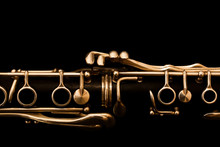 Detail Of The Clarinet In Gold...