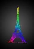 Ilustracja projekt paryskiej sztuki - 73536432
