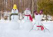 canvas print picture - Snowman family