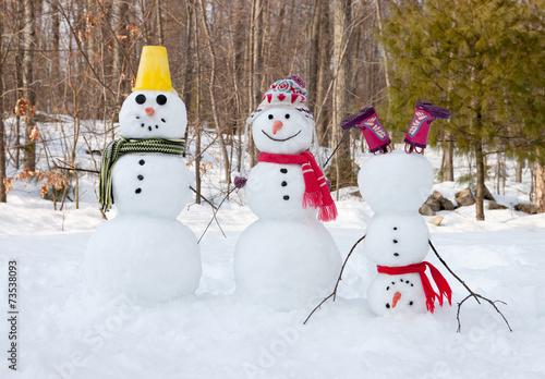 Photo  Snowman family