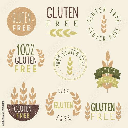 Fotografía  Gluten free labels.