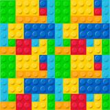 Fototapeta Pokój dzieciecy - Lego pattern vector