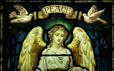 Angel with doves and peace