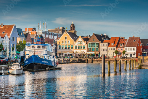 Wall Murals North Sea Town of Husum, Nordfriesland, Schleswig-Holstein, Germany