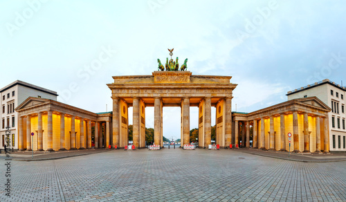 Photo  Brandenburg gate panorama in Berlin, Germany