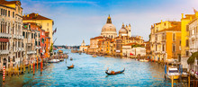Canal Grande Panorama At Sunset, Venice, Italy