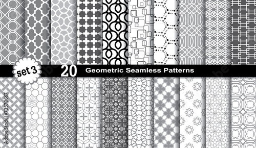 Recess Fitting Pattern Geometric Seamless Patterns.