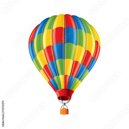 Poster Montgolfière / Dirigeable Colored balloon isolated on white vector