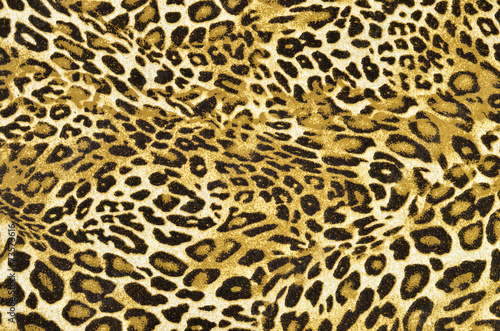 Poster Luipaard Brown and black leopard pattern.Spotted animal print background.