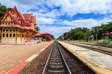 PRACHUAP KHIRI KHAN  - AUG 11 : Royal Pavilion At Hua Hin Railwa
